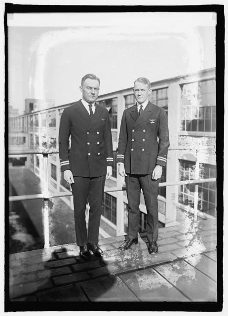Lts. R.A. Ofstie & Thos. P. Jeter, Naval Aides to President