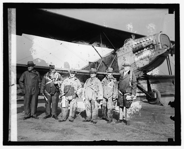 Members of Special Aviation Board leaving for air races, [10/8/25]