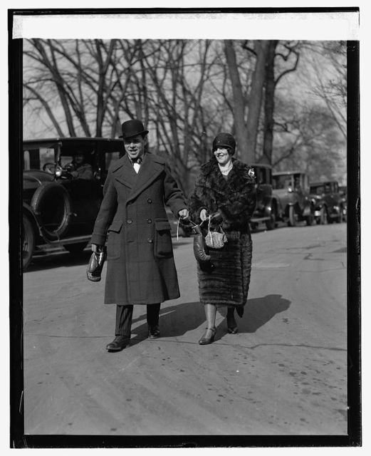 Mickey Walker and wife at White House, [2/5/25]