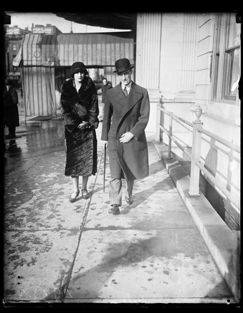 Mr. Luciano Mascia, new Secretary at Italian Embassy, with wife at Hamilton Hotel
