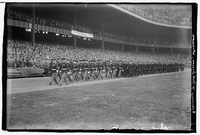 Opening ceremonies at Yankee Stadium, 1925