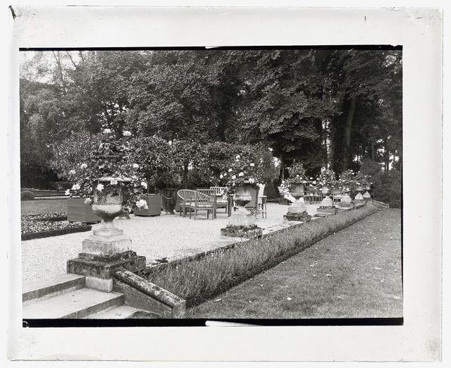 "[""Pavillon Colombe,"" Edith Jones Wharton house, 33 rue Edith Wharton, St. Brice-sous-Forêt, Seine-et-Oise, France. Terrace]"