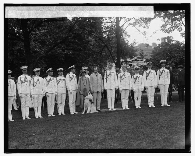 Pres. & Mrs. Coolidge with aides