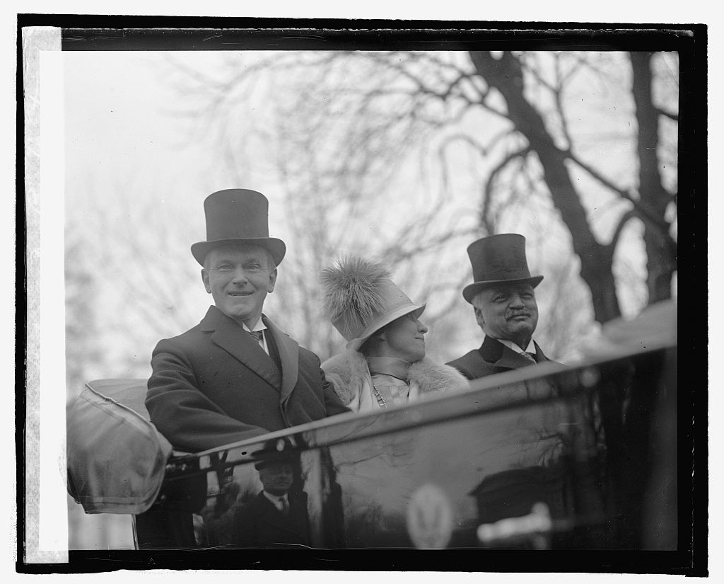 Pres. Coolidge, Mrs. C., & Curtis