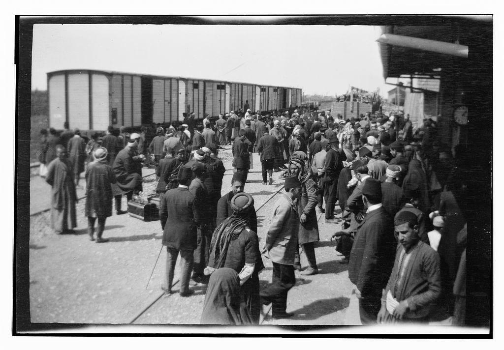 [Railroad station at Homs?]