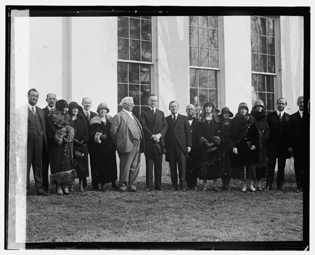 Texas delegation at W.H. to invite Coolidge to West Texas C. of C. meeting, [2/4/25]