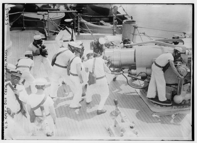 U.S. Navy - gun crew with gas masks, 3/11/25