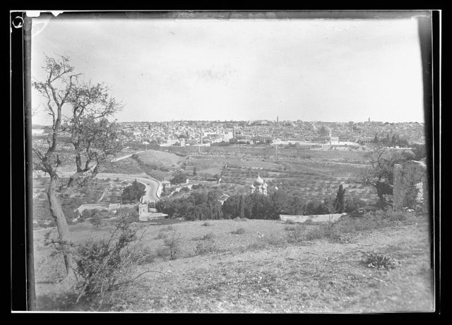 [View of Jerusalem from the Mount of Olives]