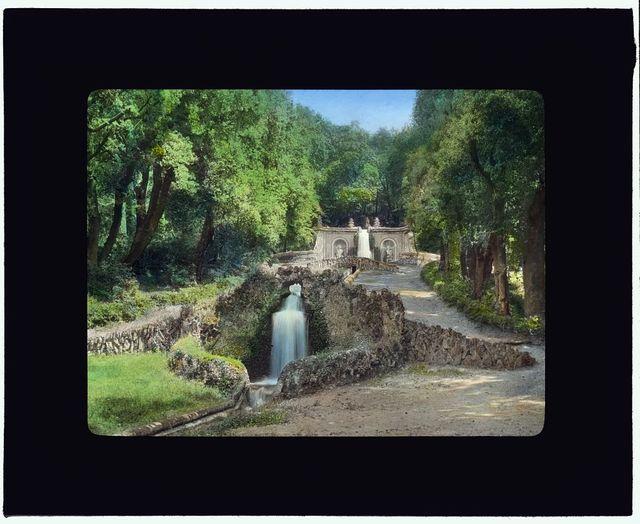 [Villa Aldobrandini, Frascati, Lazio, Italy. Water terrace]