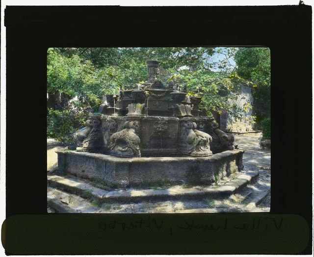 [Villa Lante, Bagnaia, Lazio, Italy. Fountain of the Dolphins]