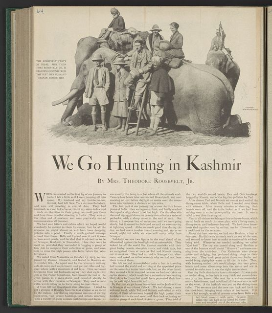 We go hunting in Kashmir / World Wide Photos.