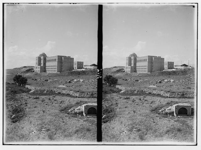 Zionist activities in Palestine. The Hebrew University Library. From the S.E.