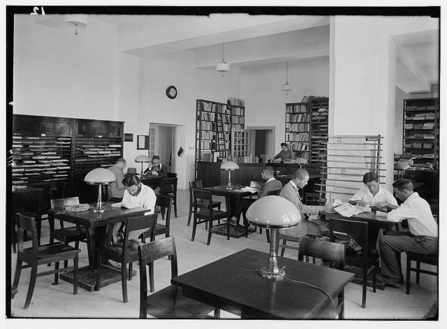 Zionist activities in Palestine. The Hebrew University Library. Periodical room.