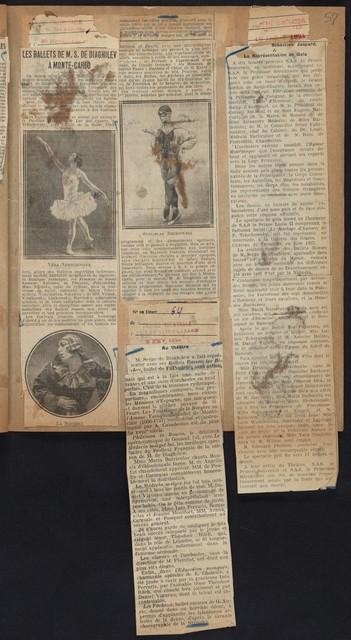 Nijinska--Ballets Russes 1922-1924 (black marble binding; grey marble--#24)