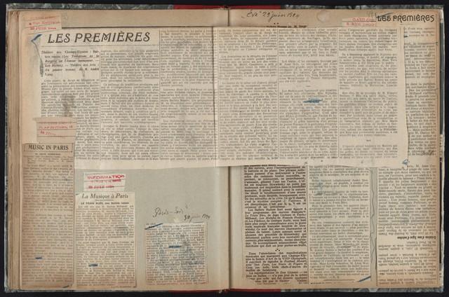 Nijinska--Ballets Russes 1923-1924 [Red binding; grey marble cover]
