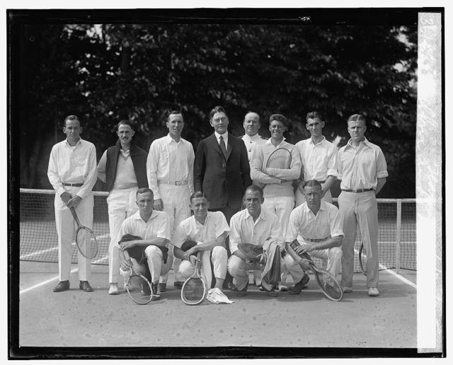 Wilbur and Navy tennis team, 6/20/25