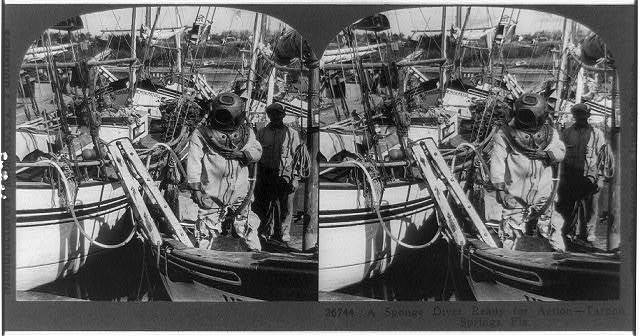 A sponge diver ready for action--Tarpon Springs, Fla.