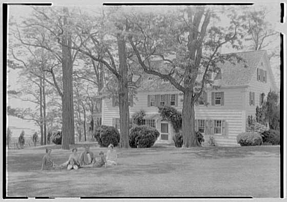 Archibald Brown, residence in Saint James, Long Island. House and group