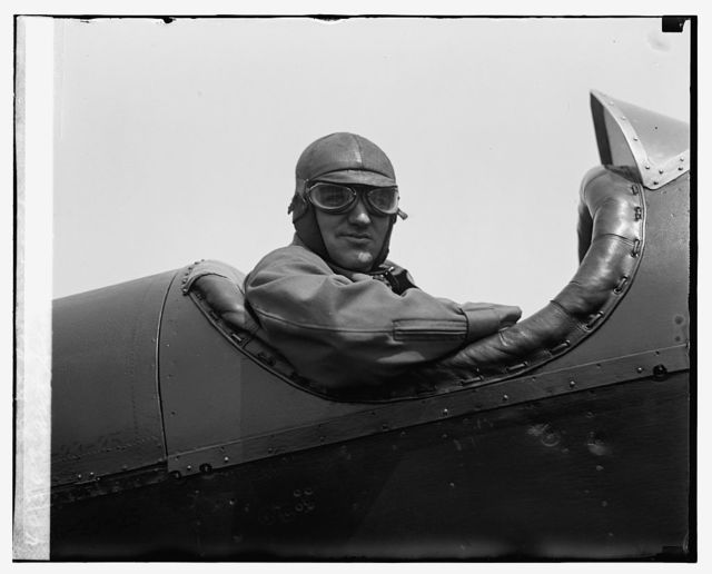 Asst. Sec. of War, F.T. Davison Jr. at Bolling Field, [7/16/26]