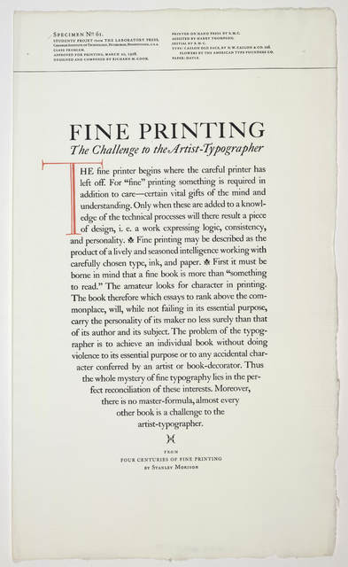 [Collection of 23 poetry broadsides from the Laboratory Press of the Carnegie Institute of Technology, Pittsburgh, Pennsylvania.]