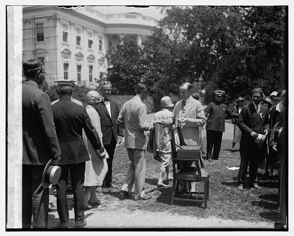 Coolidge presenting American Youth & Teacher Awards, [6/29/26]