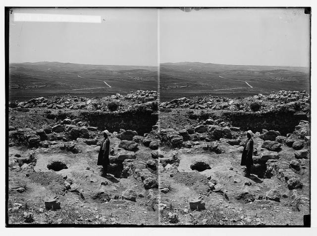 """Excavations at Tell el-Nasbeh, """"Mizpah?"""" Mouth of an old cistern"""