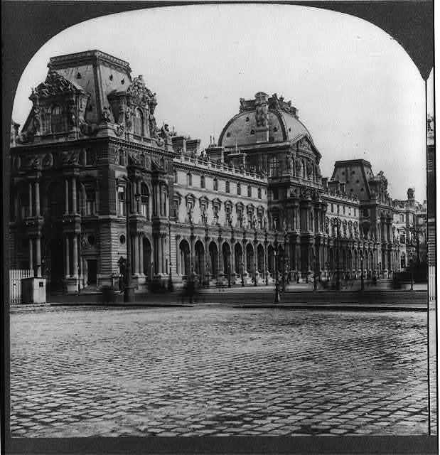 [France - Paris - The Louvre, exterior]
