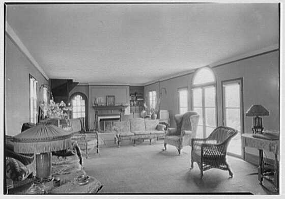 Fred K. Miller, residence in Center Bridge, Pennsylvania. Living room