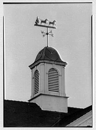 George Haas, residence in Mount Kisco, New York. Telephoto, weather vane