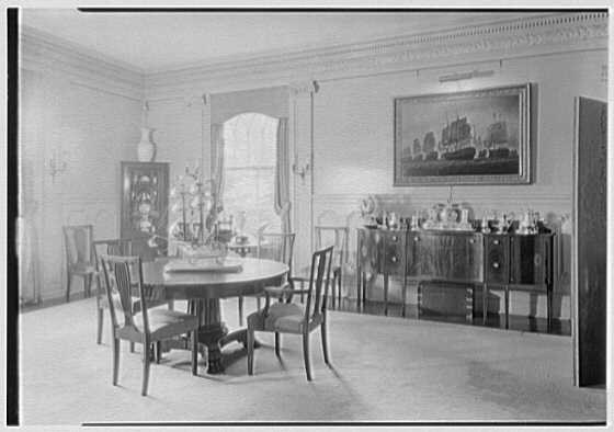 George St. George, residence in Tuxedo Park, New York. Dining room I