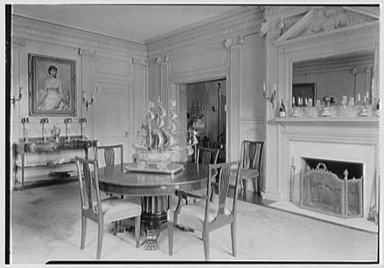 George St. George, residence in Tuxedo Park, New York. Dining room II