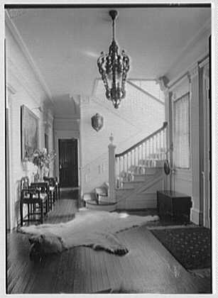 George St. George, residence in Tuxedo Park, New York. Hall