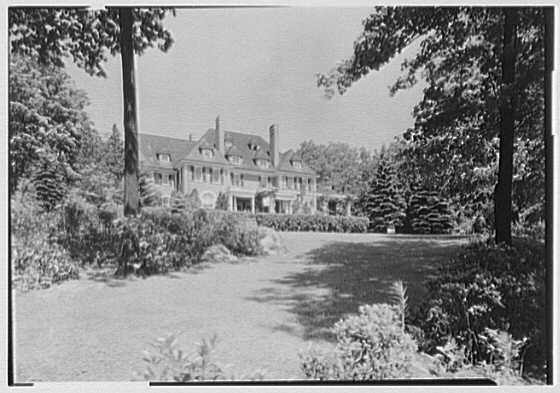 George St. George, residence in Tuxedo Park, New York. House from east