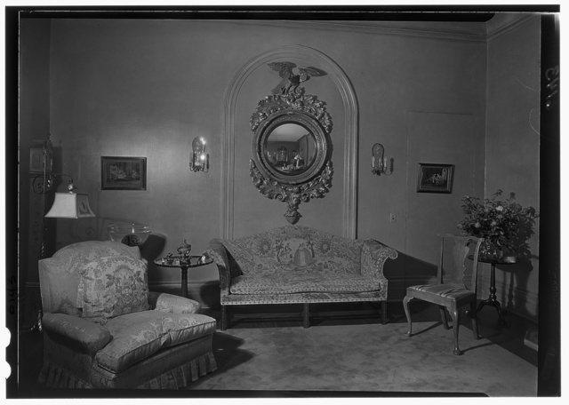 George St. George, residence in Tuxedo Park, New York. Mirror and side wall