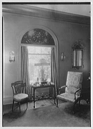 George St. George, residence in Tuxedo Park, New York. Window detail