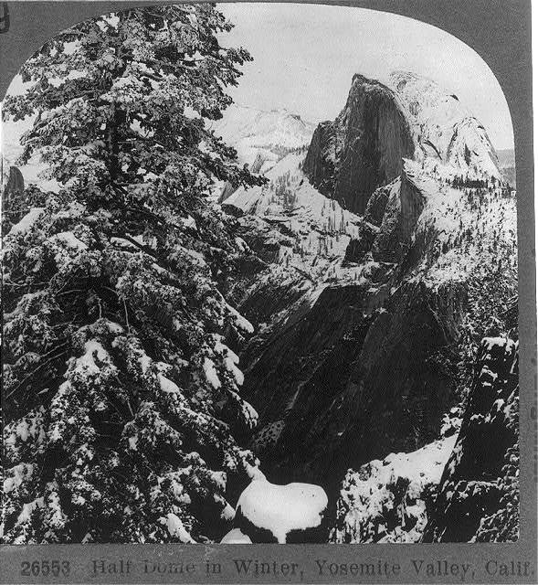 Half Dome in winter, Yosemite Valley, Calif.
