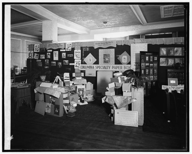 Industrial exposition, 1926, Columbia Specialty Paper Box Co.