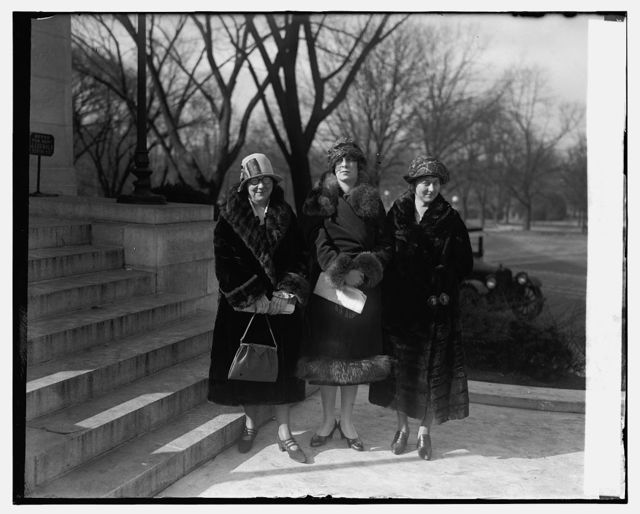 Misses Mary S. Moriarty, Katherine Garhardt, R.V. Chaney