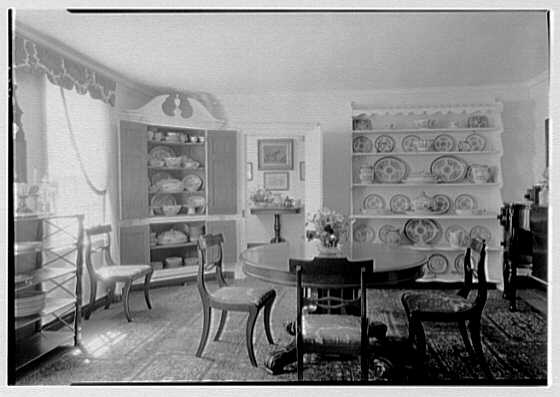Mrs. A.F. Tiffany, residence on E. Norwich Rd., Oyster Bay, Long Island. Dining room II, toward hall