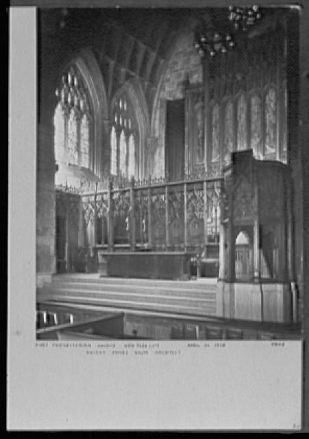 Seventy-one years, or, My life with photography. First Presbyterian Church, New York City, Apr. 22, 1926