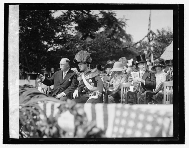 Taft, Prince Adolphus & Longworth at Ericsson Mem., [5/26]