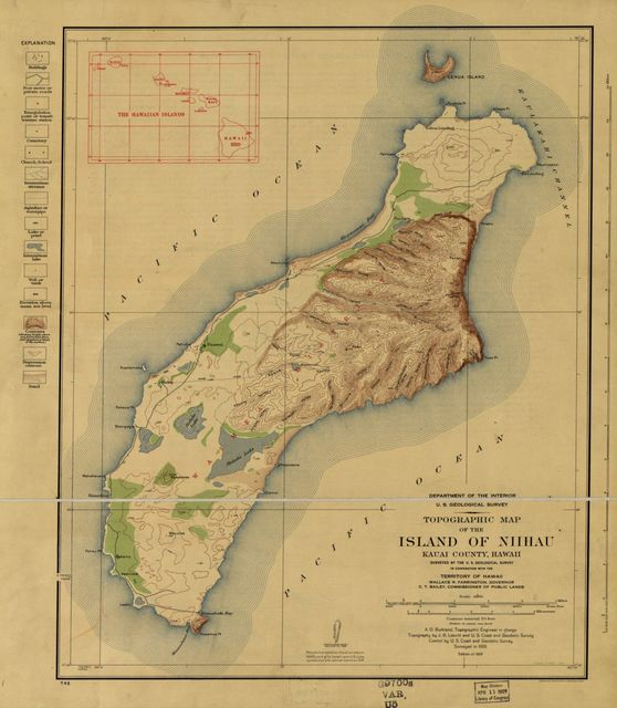Topographic map of the Island of Niihau, Kauai County, Hawaii /