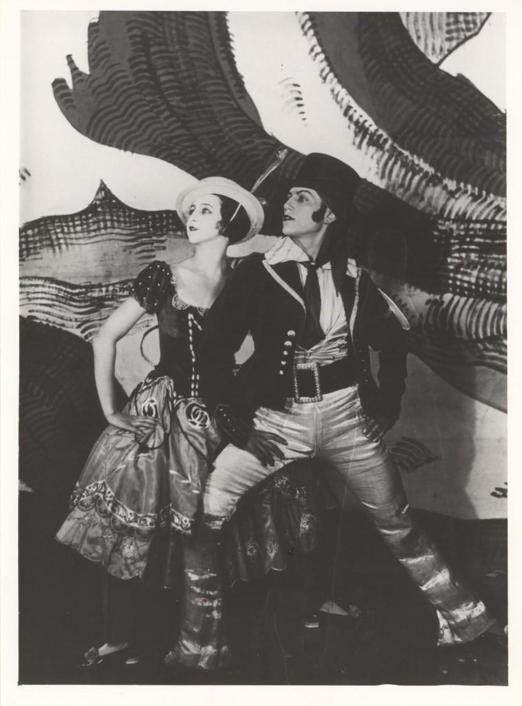 Photograph of Alexandra Danilova and Serge Lifar in The Triumph of Neptune, 1926