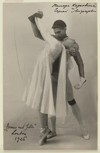 Photograph of Tamara Karsavina and Serge Lifar in Romeo and Juliet, London, 1926, no photographer
