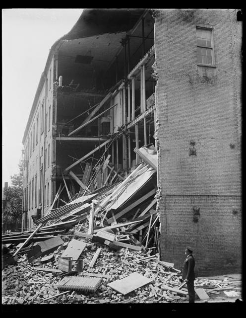 [Building demolition]