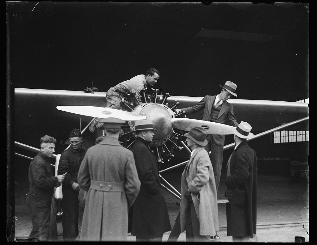 "[Charles Lindbergh's airplane ""Spirit of St. Louis""]"