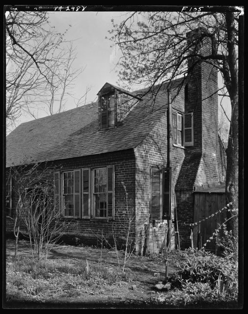 Coghill house, Quarters, rear from garden, S. Main Street, Fredericksburg, Virginia