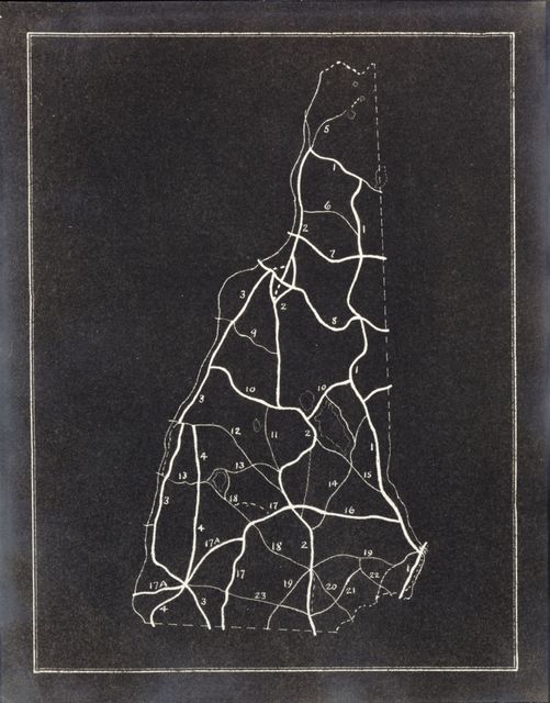 """[Collection of maps relating to publication of """"New Hampshire, a guide to the Granite State"""" by Federal Writers' Project of the Works Progress Administration for the State of New Hampshire]."""