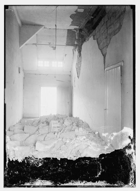 Damage to room of A.V.S. [i.e., Augusta Victoria Stiftung]