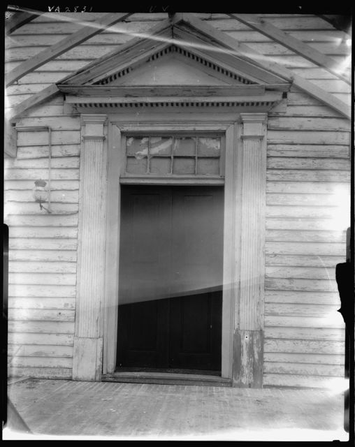 Doorway, House on hill, Falmouth, Stafford County, Virginia
